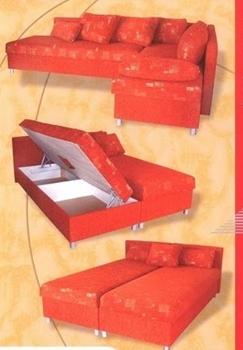 manželská posteľ a sedacia súprava 2v1