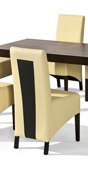 Ćalúnená drevená stolička U-6 so vsuvkou