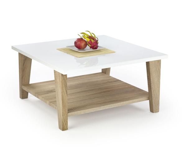 biela + dub sonoma - Konferenčný stolík KIANA