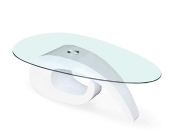 číre sklo + lakovaný laminát v bielej farbe