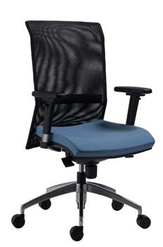 Kancelárska stolička 1580 SYN GALA NET ALU