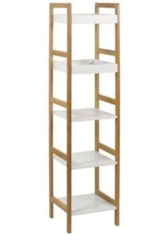 bambus + biela - Regál DR-013-5