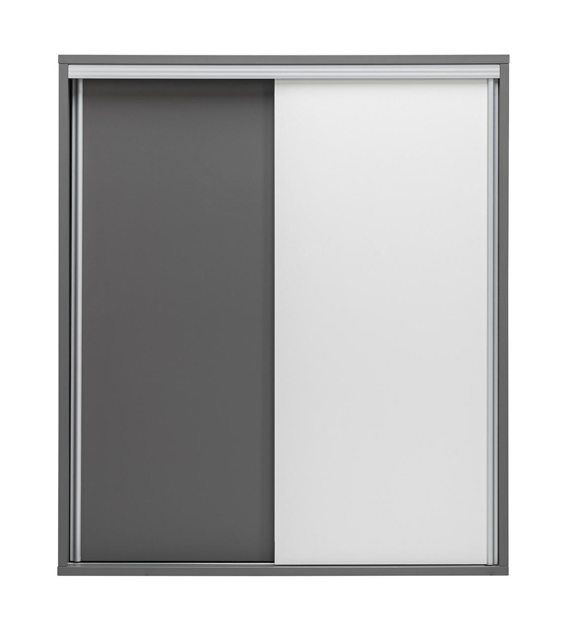 sivá + biely lesk - ZONDA skriňa Z09