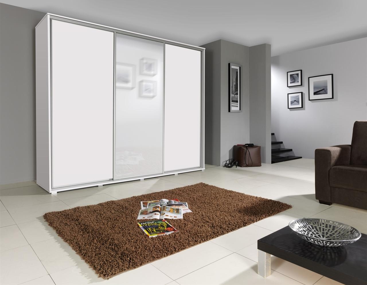 biela - Skriňa Penelopa 255 + zrkadlo