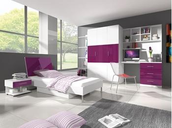 biela + fialový lesk