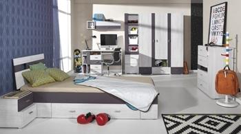 bielená borovica / earth - NEXT sektorová detská izba