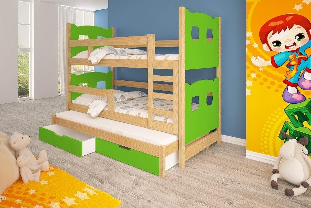 poschodová posteľ s výsuvným lôžkom