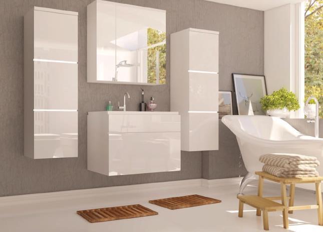 kúpeľňové skrinky biele