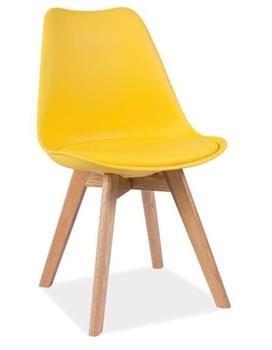 dub + žltá - Stolička Kris - dub