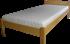 Ela - oblé čelo - Jednolôžková posteľ z masívu ELA