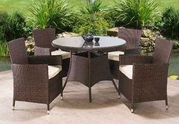 Ratanový set Randel stôl + 4 kreslá