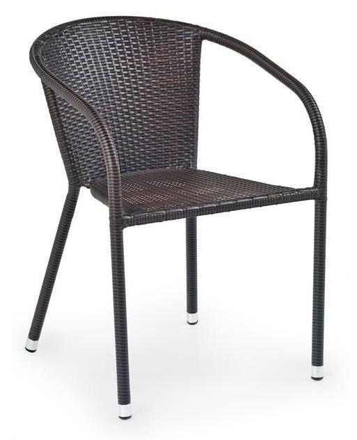 tmavohnedá - Ratanová stolička Midas