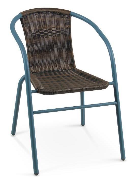 tmavohnedá + tmavozelená - Ratanová stolička Grand 2