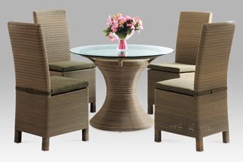 Ratanový set SOF stôl + 4 stoličky so sedákom