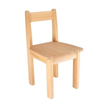 Detská stolička z bukového masívu - Model 01 - FAREBNÁ