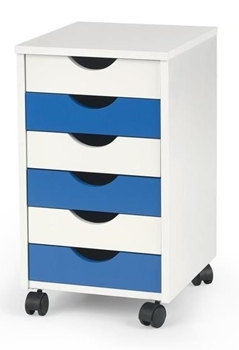 modrá + biela