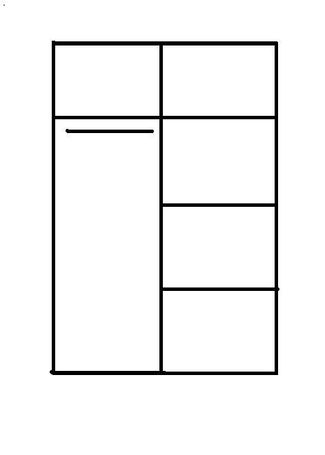 nákres skrine - Šatníkova skriňa dvojdverová REA ATLANTA 1