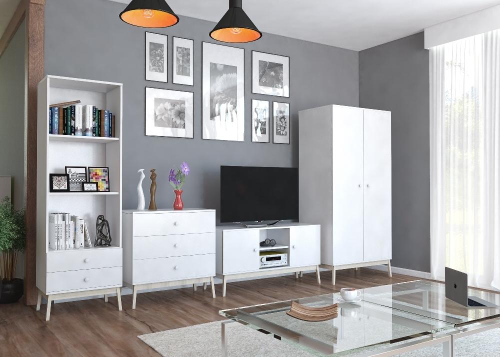biela - Obývacia stena Kamo