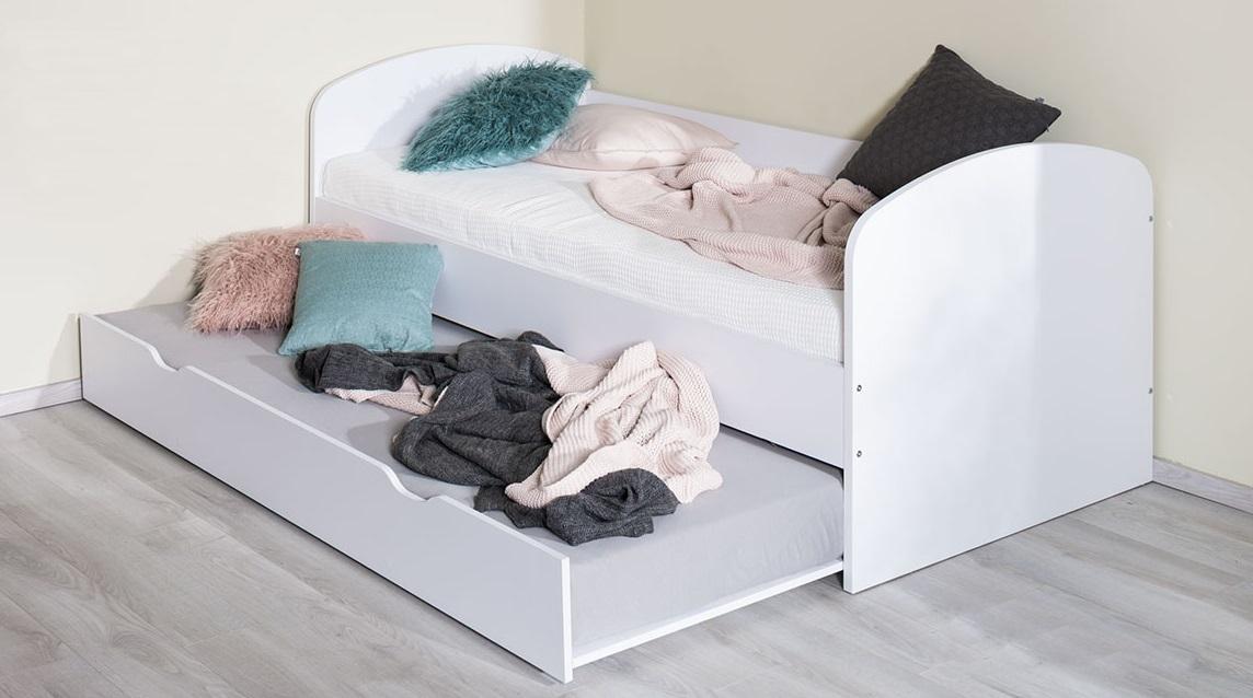 ilustračné foto 2 - biela - Detská rozkladacia posteľ  REA ABRA