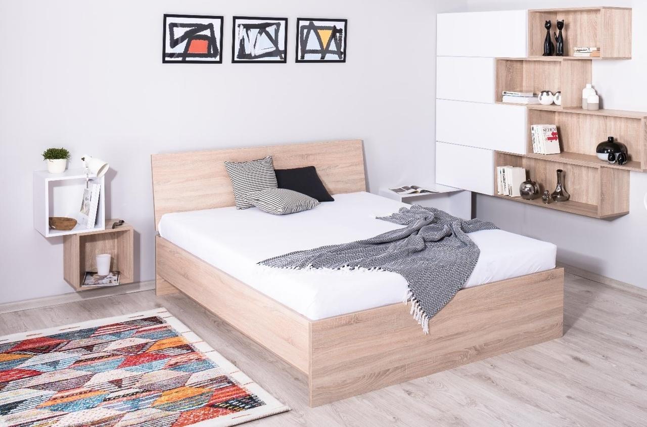 ilustračné foto 1 - dub bardolino - Manželská posteľ REA OXANA UP 160/180