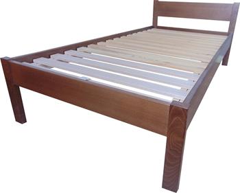 Ela - hranaté čelo - Jednolôžková posteľ z masívu ELA