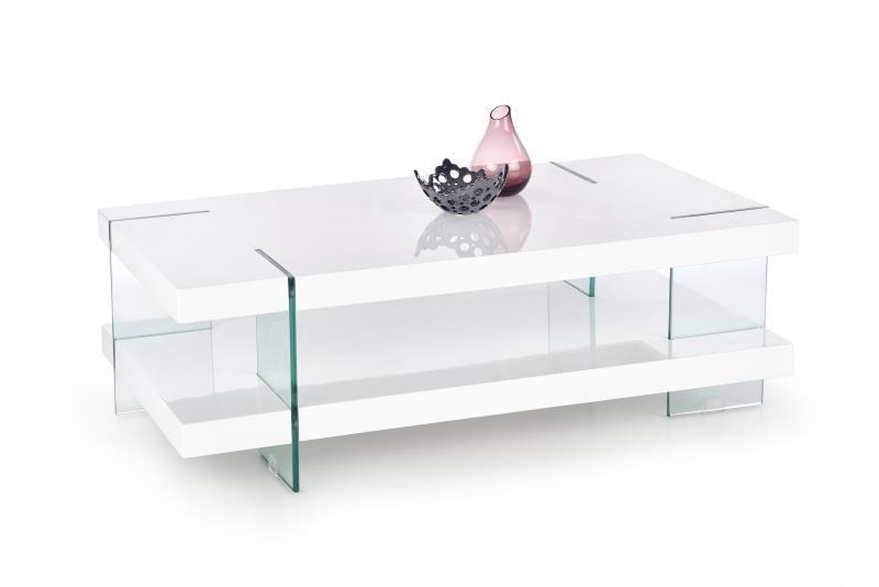biely lesk + sklo - Konferenčný stolík INFERO