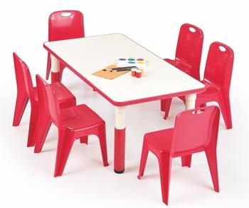 červená + biela - Detský stôl Simba 115x60