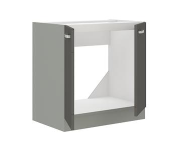 sivý mat + sivý vysoký lesk  - vnútro skrinky