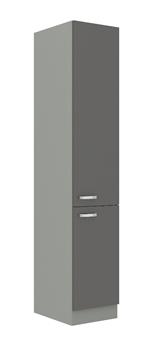 sivý mat + sivý vysoký lesk