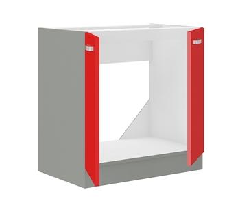 sivý mat + červený vysoký lesk - vnútro skriny
