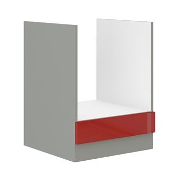 sivý mat + červený vysoký lesk