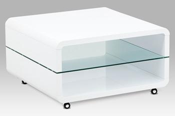 biely vysoký lesk + číre sklo