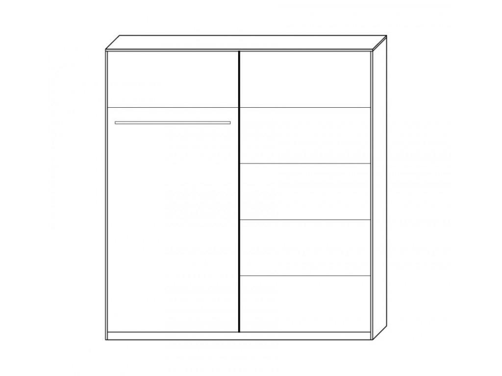 vnútorné rozloženie skrine - Skriňa NERO