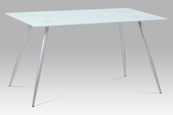 biele sklo + striebornosivý lak