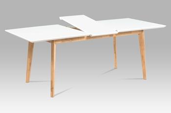 prírodný dub + biely mat - Jedálenský stôl AT-6001 WT