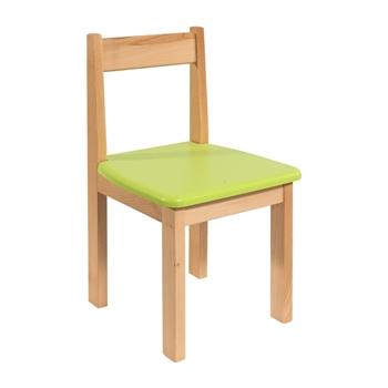 Detská stolička z bukového masívu so VZOROM - Model 01