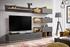 antracit + dub wotan - Obývacia stena Silk + LED