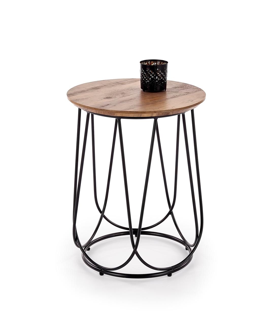 čierna + orech - Príručný stolík NUBIRA-S