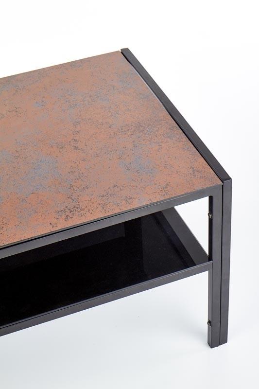 čierna + imitácia kameňa - Konferenčný stolík OMEGA