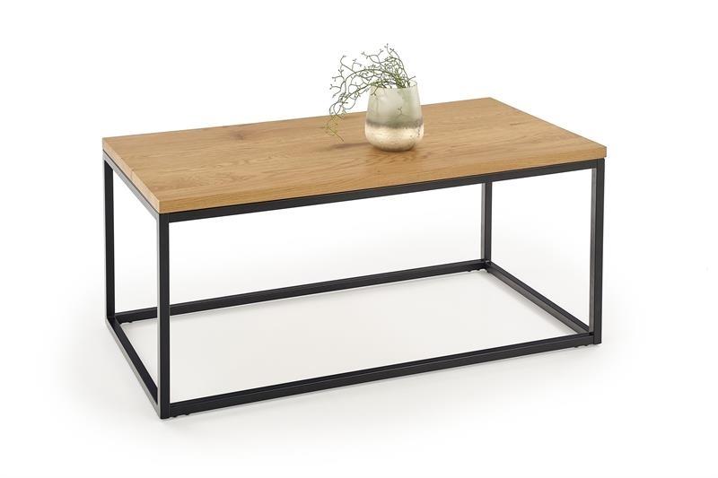 čierny kov + dub zlatý - Konferenčný stolík ARUBA