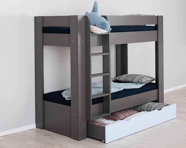 graphite + ice blue, ĽAVÉ prevedenie - Poschodová posteľ REA PIKACHU