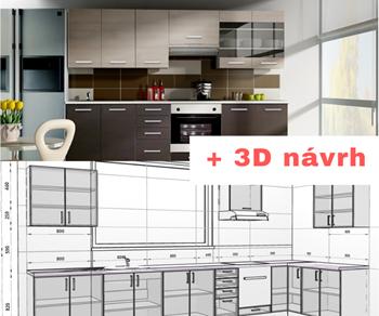 Kuchynská linka CHAMONIX 240 + 3D návrh v cene