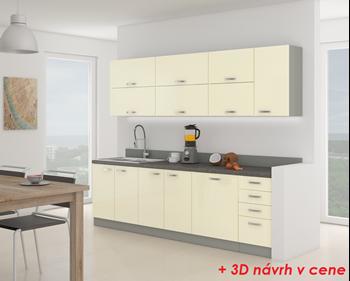 Kuchynská linka KARMEN 260 + návrh v cene