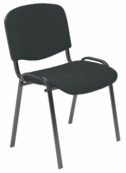 C-11 - čierna - Kancelárska stohovateľná stolička ISO