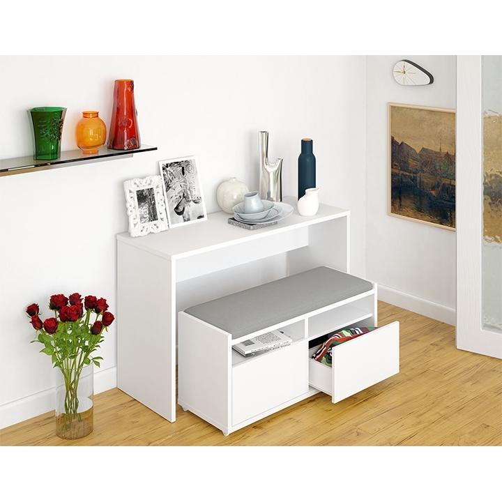 biela - Viacúčelový stolík DELIMA