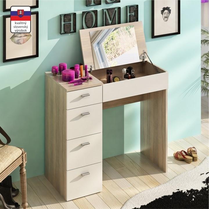 dub sonoma + biela - Toaletný stolík BELINA