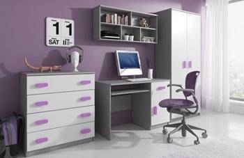 sivá + biela + fialová