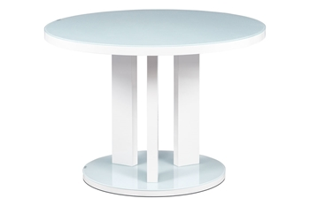 biele sklo + biely lesk