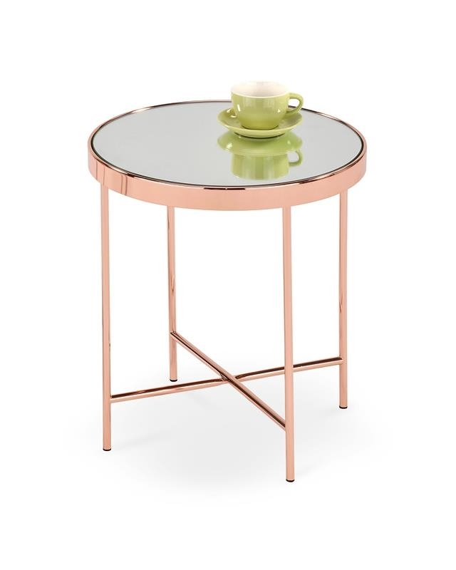 meď + sklo - Príručný stolík MIRA