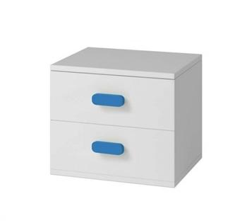 biela + modrá